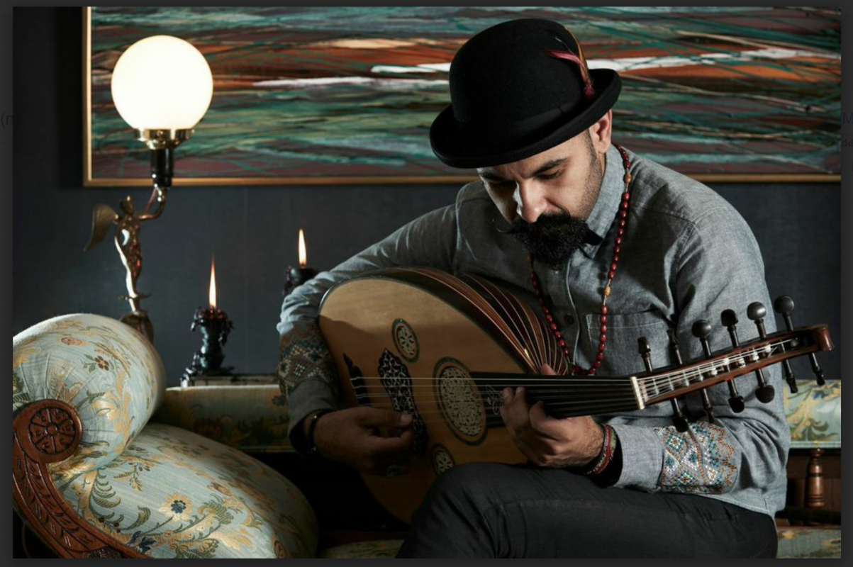 Joseph Tawadros AM playing the oud